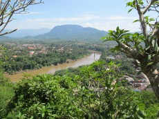 Luang Prabang sits at the confluence of the Nam Khan River and Mekong River